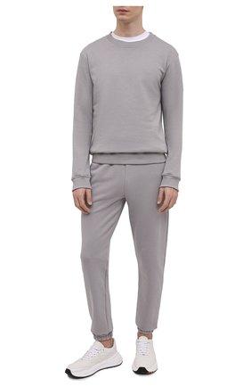 Мужской хлопковый спортивный костюм SEVEN LAB серого цвета, арт. 66SWP21-B#cr grey | Фото 1