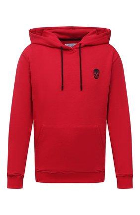 Мужской хлопковое худи SEVEN LAB красного цвета, арт. 662H21-1sk red | Фото 1