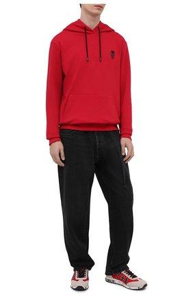 Мужской хлопковое худи SEVEN LAB красного цвета, арт. 662H21-1sk red | Фото 2
