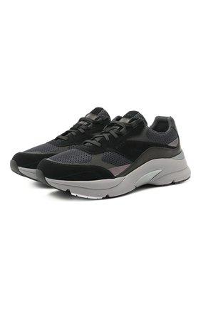 Мужские комбинированные кроссовки BOSS черного цвета, арт. 50446943   Фото 1