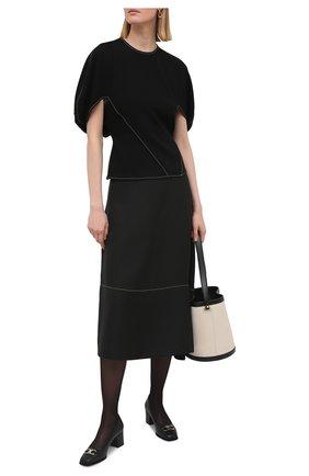 Женские кожаные туфли gancini SALVATORE FERRAGAMO черного цвета, арт. Z-07329481C | Фото 2