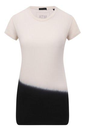 Женская хлопковая футболка ATM ANTHONY THOMAS MELILLO черно-белого цвета, арт. AW1425-EM1 | Фото 1