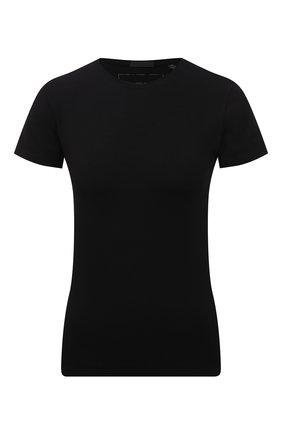 Женская хлопковая футболка ATM ANTHONY THOMAS MELILLO черного цвета, арт. AW1238-XA | Фото 1