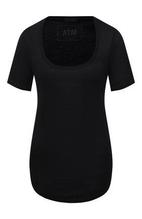 Женская футболка ATM ANTHONY THOMAS MELILLO черного цвета, арт. AW1005-MJ | Фото 1