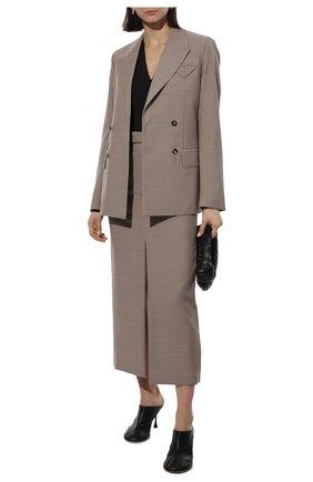 Женское кашемировое боди BOTTEGA VENETA коричневого цвета, арт. 648819/VKSE0 | Фото 2