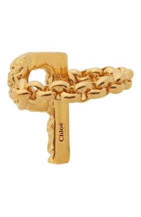 Женское кольцо alphabet p CHLOÉ золотого цвета, арт. CHC21SFR0PCB7 | Фото 2