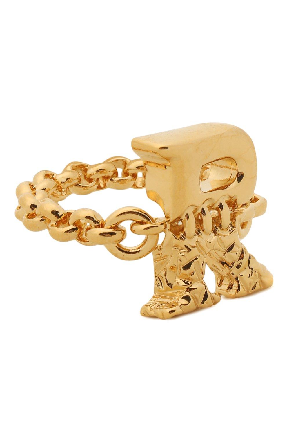 Женское кольцо alphabet r CHLOÉ золотого цвета, арт. CHC21SFR0RCB7 | Фото 1