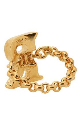 Женское кольцо alphabet r CHLOÉ золотого цвета, арт. CHC21SFR0RCB7 | Фото 2 (Материал: Металл)