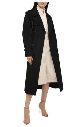 Женские кожаные босоножки padlock TOM FORD бежевого цвета, арт. W2272T-LKD002 | Фото 2