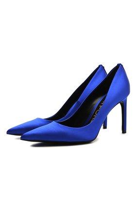 Женские текстильные туфли t-screw TOM FORD синего цвета, арт. W2326T-STA | Фото 1