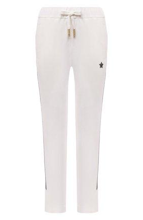 Женские хлопковые брюки LORENA ANTONIAZZI белого цвета, арт. P2141PA109/3187   Фото 1