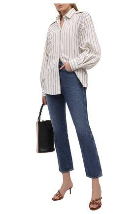 Женские кожаные мюли rockstud VALENTINO коричневого цвета, арт. VW2S0Y92/V0D   Фото 2