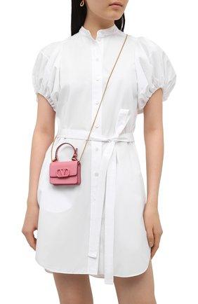 Женская сумка valentino garavani vlogo signature VALENTINO розового цвета, арт. VW0P0U98/RQR | Фото 2
