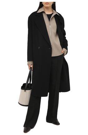 Женское шерстяное пальто STELLA MCCARTNEY черного цвета, арт. 602900/SPB05 | Фото 2