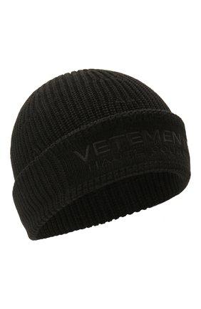 Женская шерстяная шапка VETEMENTS черного цвета, арт. UE51SA500B 1399/W | Фото 1