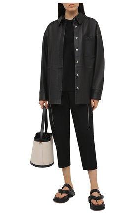 Женские шерстяные брюки STELLA MCCARTNEY черного цвета, арт. 602929/SPA28 | Фото 2