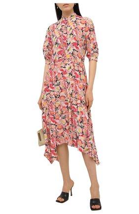 Женское шелковое платье STELLA MCCARTNEY розового цвета, арт. 602910/SRA27   Фото 2