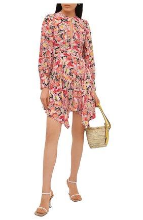 Женское шелковое платье STELLA MCCARTNEY розового цвета, арт. 602908/SRA27 | Фото 2