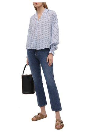 Женская хлопковая блузка FORTE_FORTE голубого цвета, арт. 8072 | Фото 2