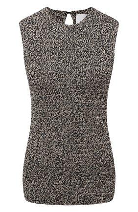 Женский хлопковый топ JIL SANDER серого цвета, арт. JSWS751303-WSY24038 | Фото 1
