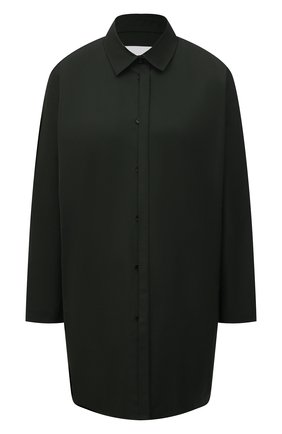 Женская хлопковая рубашка JIL SANDER темно-зеленого цвета, арт. JSWS606905-WS244200 | Фото 1