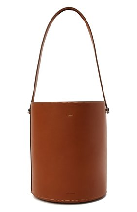 Женская сумка taos JIL SANDER коричневого цвета, арт. JSPS857509-WSB69155V | Фото 1 (Материал: Натуральная кожа; Размер: small; Сумки-технические: Сумки top-handle, Сумки через плечо)