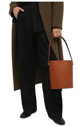 Женская сумка taos JIL SANDER коричневого цвета, арт. JSPS857509-WSB69155V | Фото 2 (Материал: Натуральная кожа; Размер: small; Сумки-технические: Сумки top-handle, Сумки через плечо)