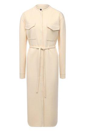 Женское кашемировое платье JIL SANDER светло-бежевого цвета, арт. JSPS501785-WS100903   Фото 1