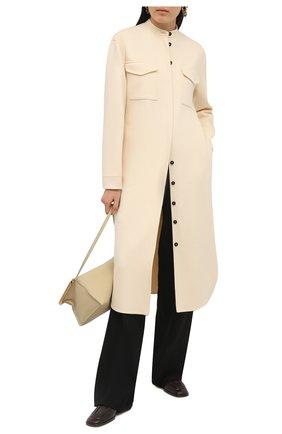 Женское кашемировое платье JIL SANDER светло-бежевого цвета, арт. JSPS501785-WS100903   Фото 2