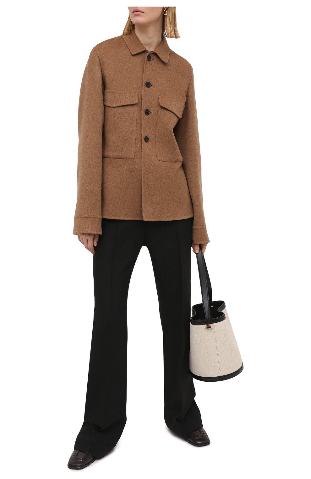 Женский кашемировый жакет JIL SANDER коричневого цвета, арт. JSPS150185-WS100903   Фото 2