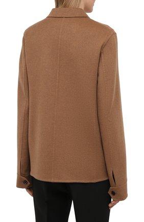 Женский кашемировый жакет JIL SANDER коричневого цвета, арт. JSPS150185-WS100903   Фото 4