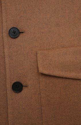 Женский кашемировый жакет JIL SANDER коричневого цвета, арт. JSPS150185-WS100903   Фото 5