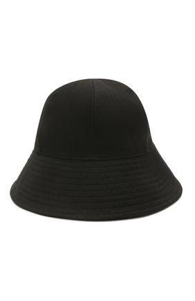 Женская хлопковая панама JIL SANDER черного цвета, арт. JPPS590911-WS241900 | Фото 1