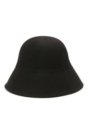 Женская хлопковая панама JIL SANDER черного цвета, арт. JPPS590911-WS241900 | Фото 2