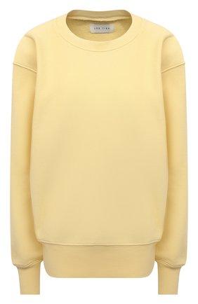 Женский хлопковый свитшот LES TIEN желтого цвета, арт. CF-1003 | Фото 1
