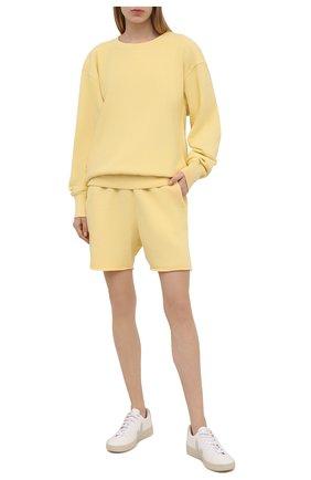 Женский хлопковый свитшот LES TIEN желтого цвета, арт. CF-1003 | Фото 2