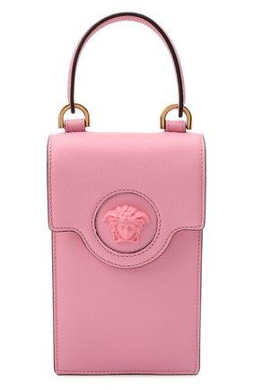 Кожаный чехол для телефона la medusa VERSACE розового цвета, арт. DP8I060/DVIT2T | Фото 1