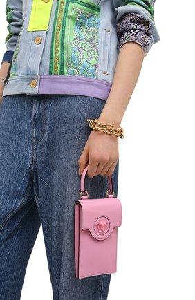 Кожаный чехол для телефона la medusa VERSACE розового цвета, арт. DP8I060/DVIT2T | Фото 2