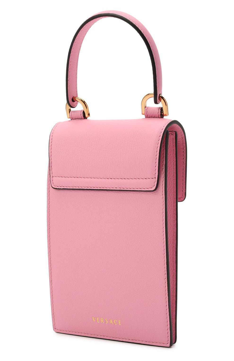 Кожаный чехол для телефона la medusa VERSACE розового цвета, арт. DP8I060/DVIT2T | Фото 3