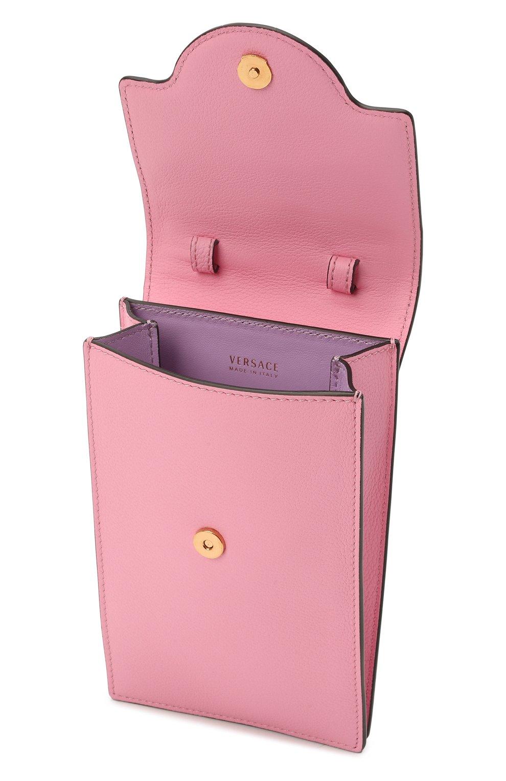 Кожаный чехол для телефона la medusa VERSACE розового цвета, арт. DP8I060/DVIT2T | Фото 4