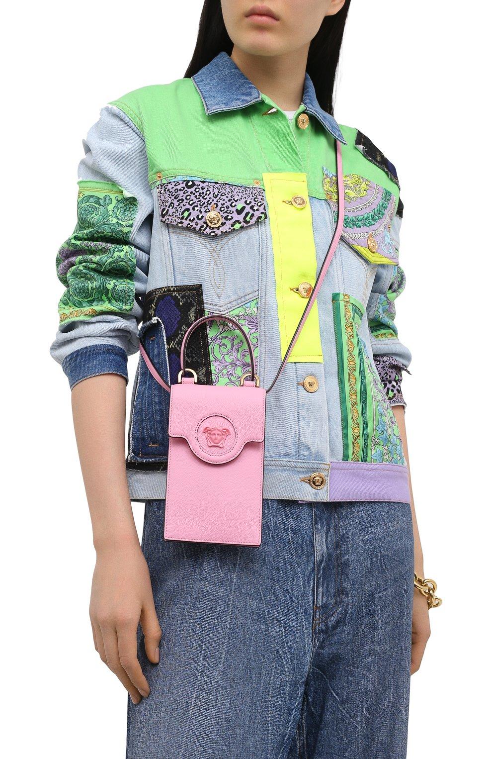 Кожаный чехол для телефона la medusa VERSACE розового цвета, арт. DP8I060/DVIT2T | Фото 5