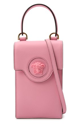 Кожаный чехол для телефона la medusa VERSACE розового цвета, арт. DP8I060/DVIT2T | Фото 6