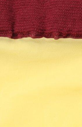 Женские гольфы DRIES VAN NOTEN желтого цвета, арт. 211-11901-040 | Фото 2 (Материал внешний: Синтетический материал)