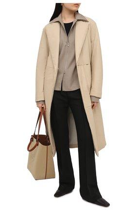 Женское кожаное пальто JOSEPH светло-бежевого цвета, арт. JF005240 | Фото 2
