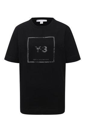 Женская хлопковая футболка Y-3 черного цвета, арт. GV6060/W | Фото 1