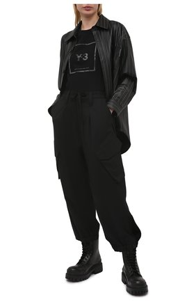Женская хлопковая футболка Y-3 черного цвета, арт. GV6060/W | Фото 2
