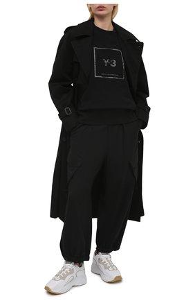 Женский хлопковый свитшот Y-3 черного цвета, арт. GV6057/W | Фото 2