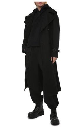 Женский хлопковое худи Y-3 черного цвета, арт. GV2799/W | Фото 2