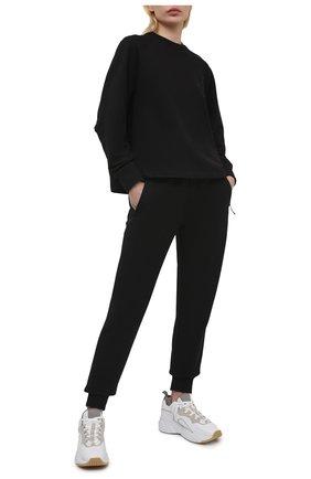 Женские хлопковые джоггеры Y-3 черного цвета, арт. GV2785/W | Фото 2