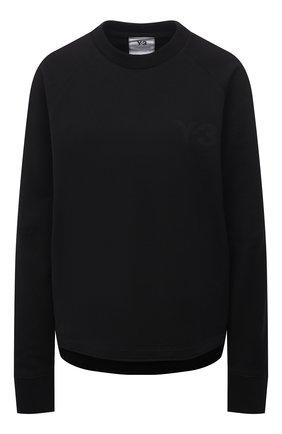 Женский хлопковая футболка Y-3 черного цвета, арт. GV0336/W | Фото 1